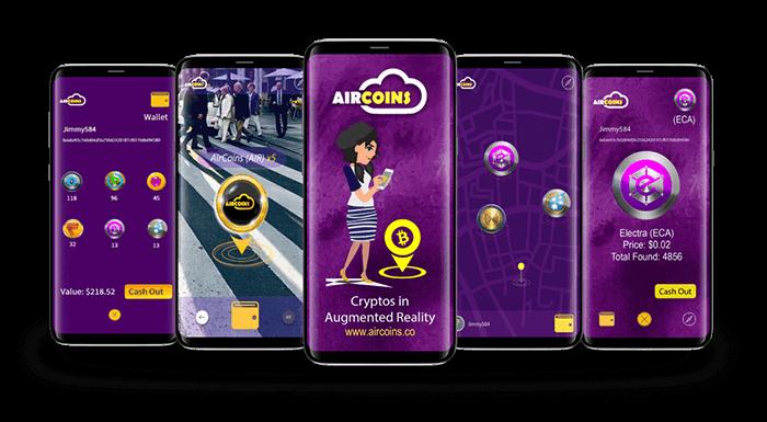 AirCoins mobiilipeli haastaa Pokemon Go pelin – Kerää kryptovaluuttoja ilmaiseksi!